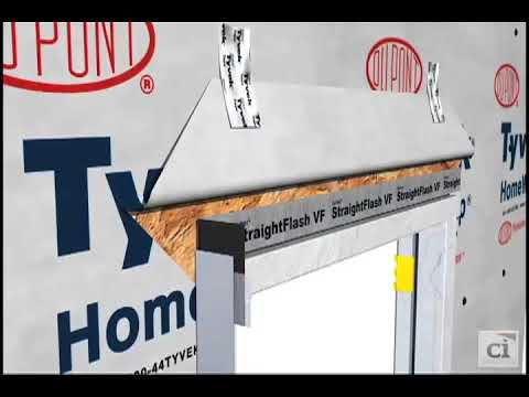 Flash a Brick Mold Door with StraightFlash™ VF DuPont™ Tyvek®